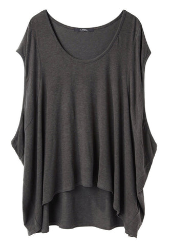 Side Dropped Sleeveless Tee