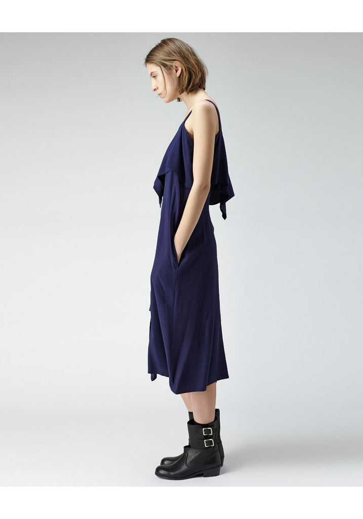 Sleeveless Drape Dress