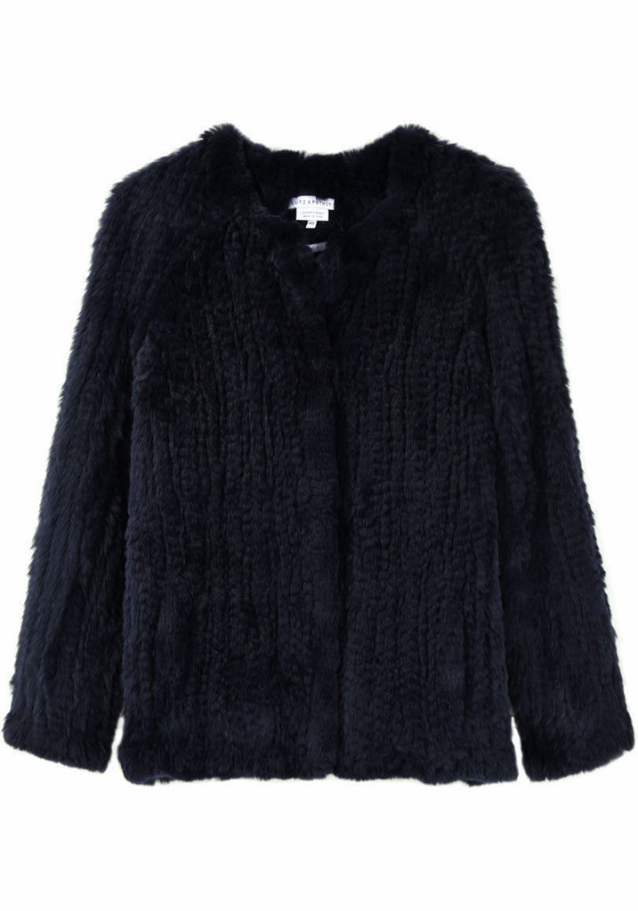 Handknit Fur Jacket