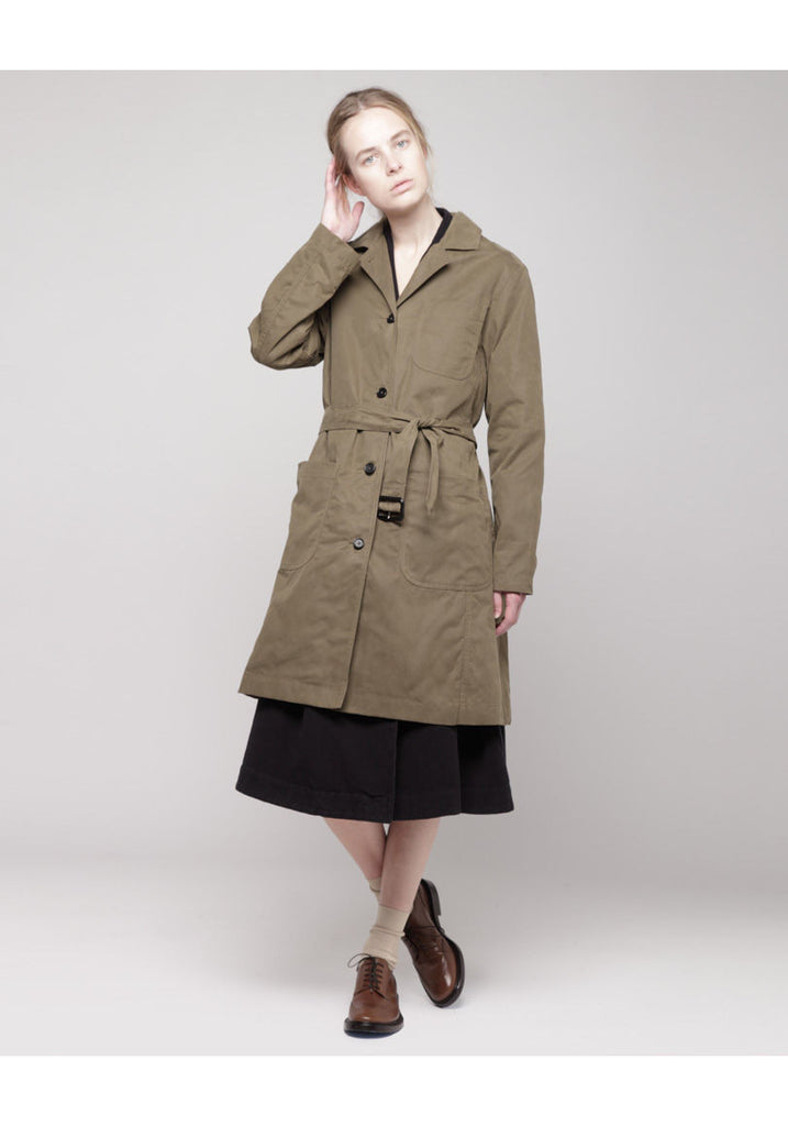 Proofed Canvas Overcoat