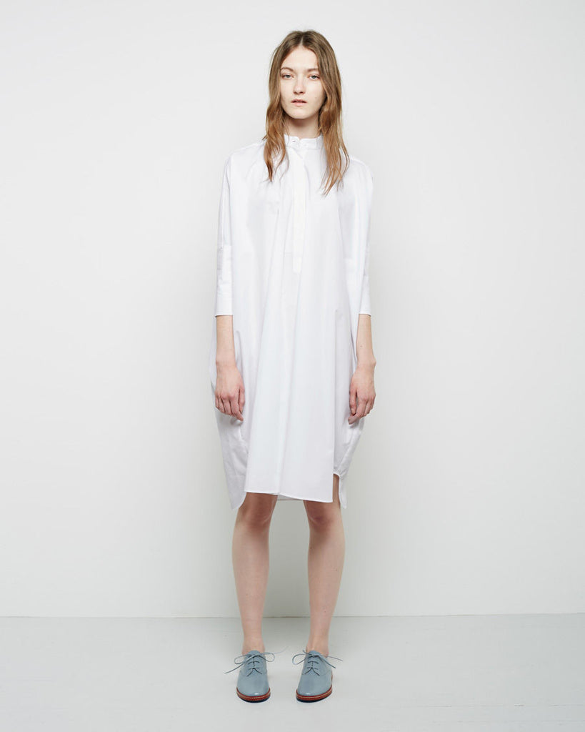 Collarless Shirtdress