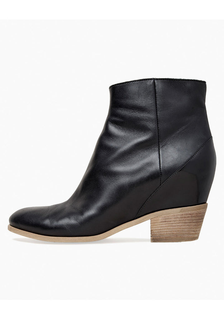 Hidden-Wedge Ankle Boot