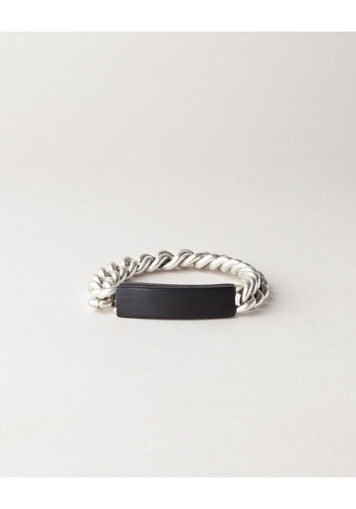 Chain/Leather Bracelet