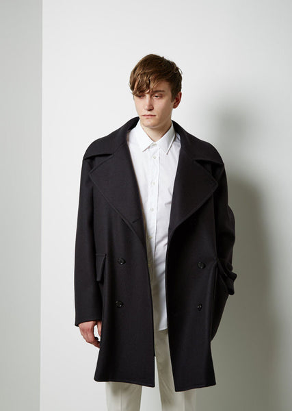 Maison Margiela Line 14 Double Breasted Coat La Garconne