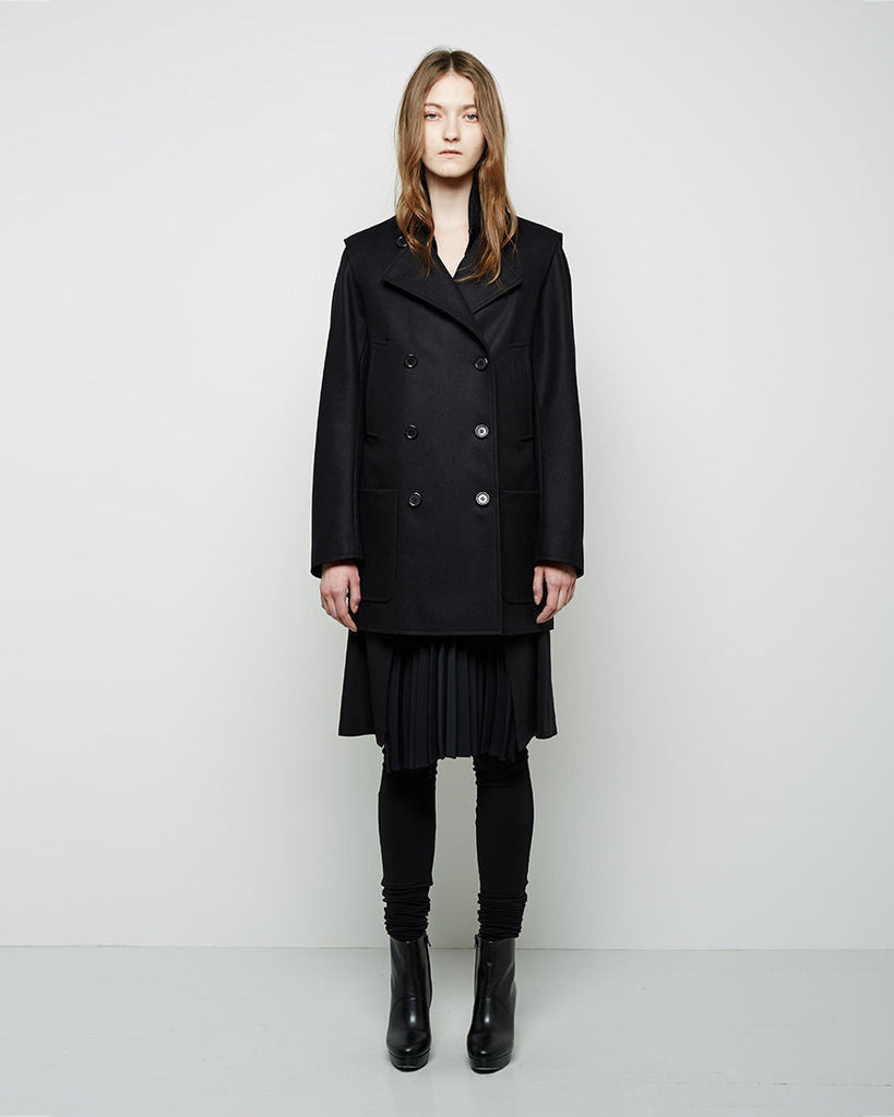 Convertible Wool Cashmere Coat
