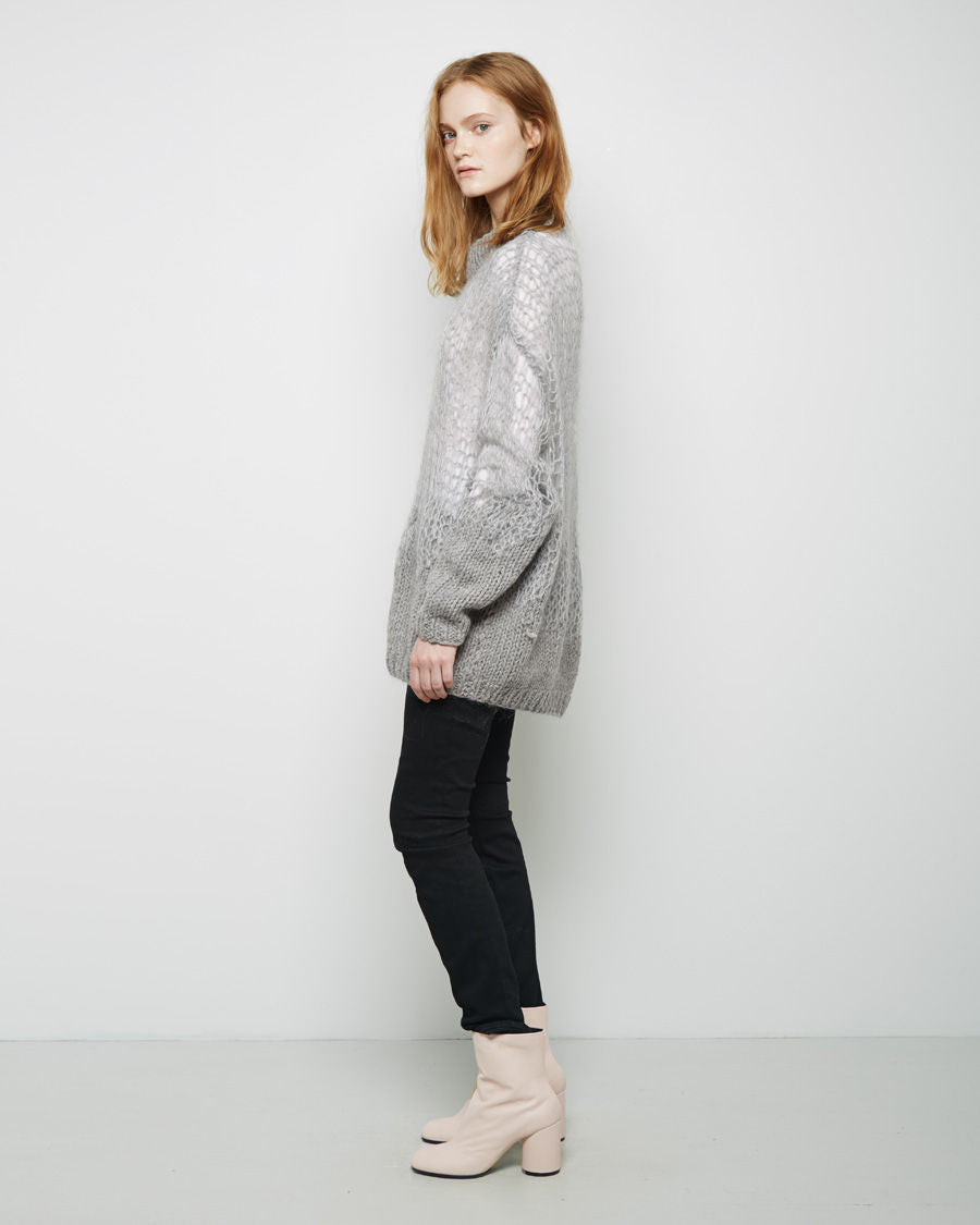 Web Knit Wool Mohair Sweater