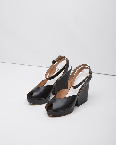 Ankle-Strap Peep Toe Wedge