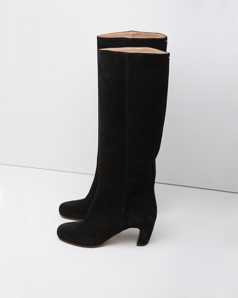 Tall Curved-Heel Boot