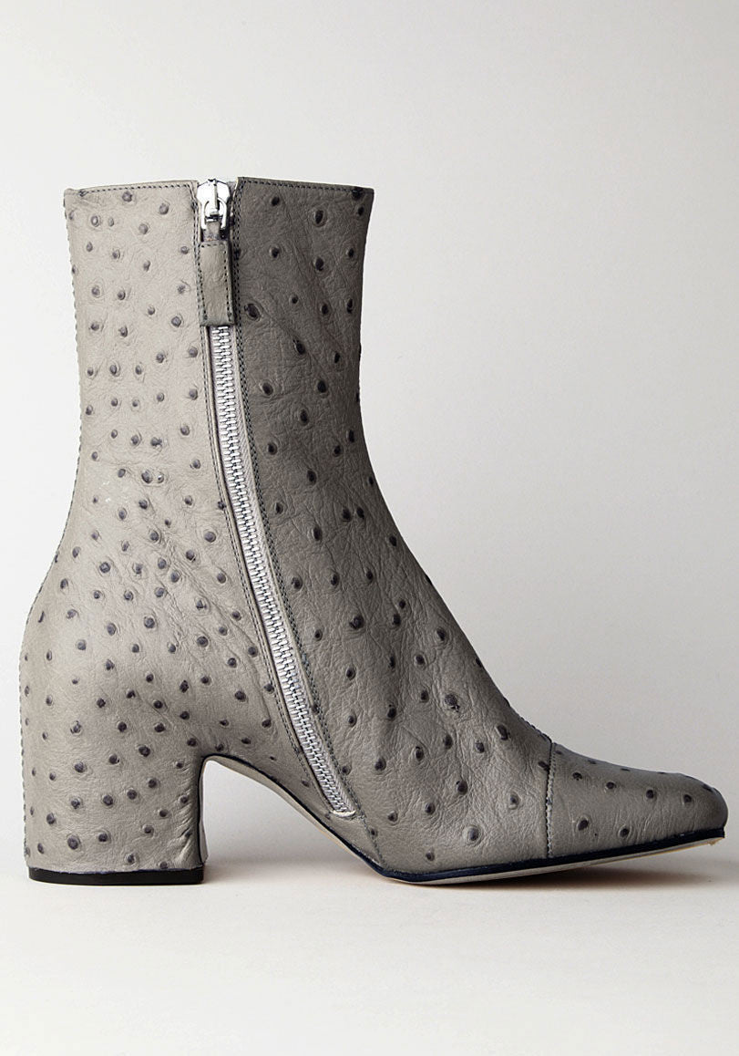 Covered Heel Ankle Boot