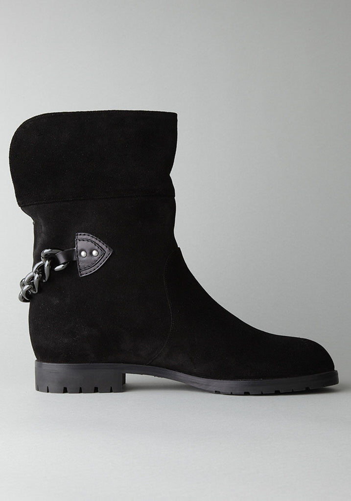 Short Boot with Chain Detail