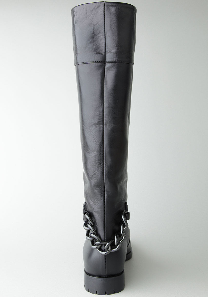 Tall Boot with Chain Detail