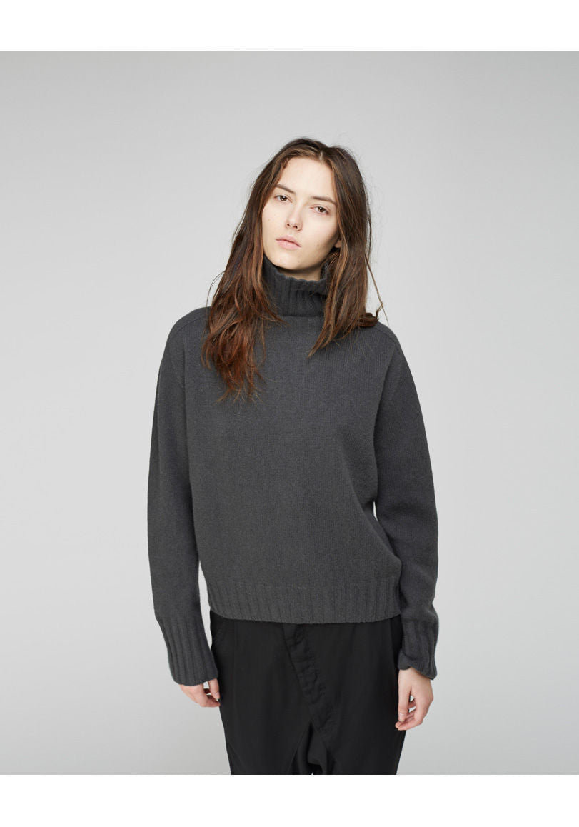 Cashmere Wide Roll Neck