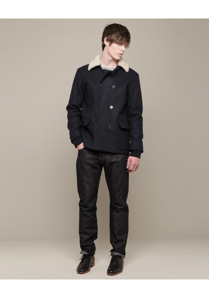 Fleece Collar Coat