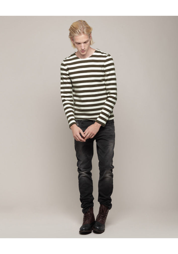 Striped Crewneck Pullover