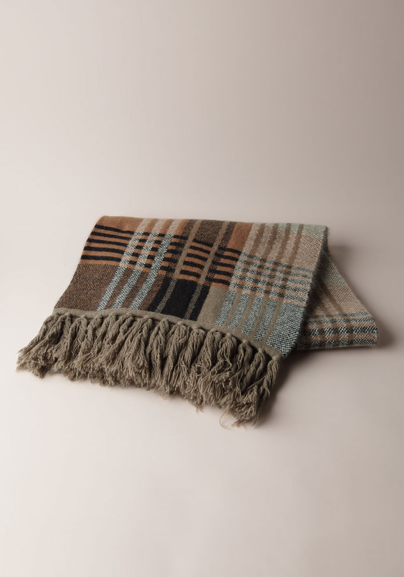 Knitted Check Scarf