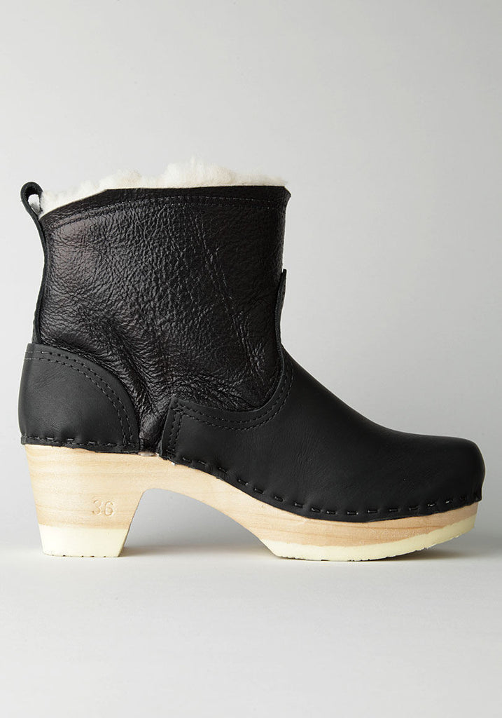 Biker Boot with Shearling