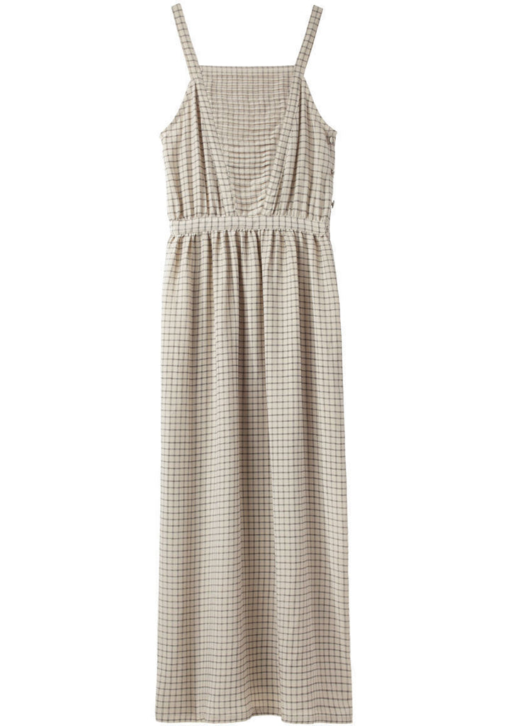 Shaman Pleated V Neck Dress