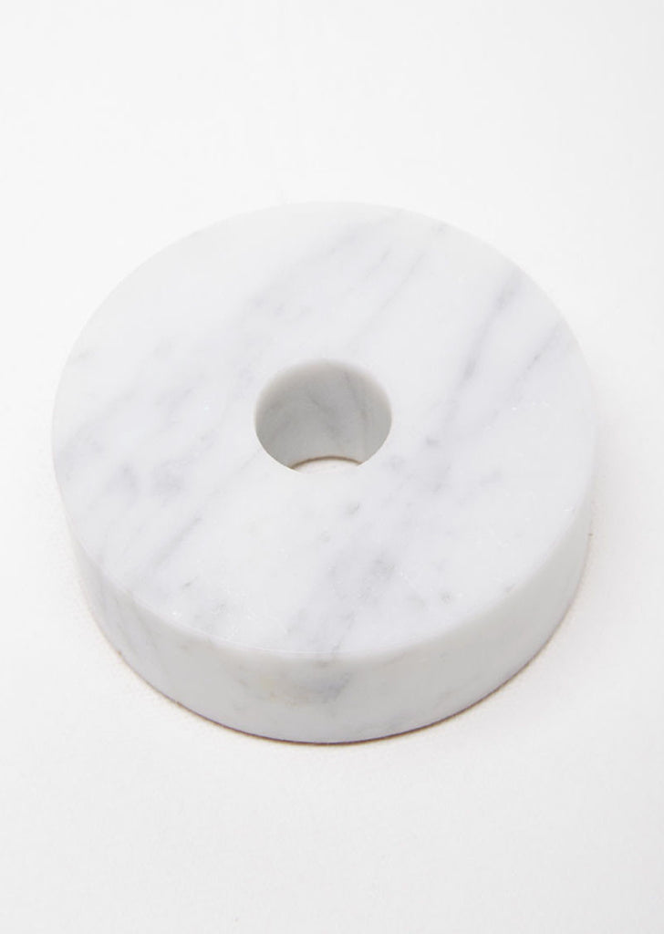 Marble Circle Candle Holder