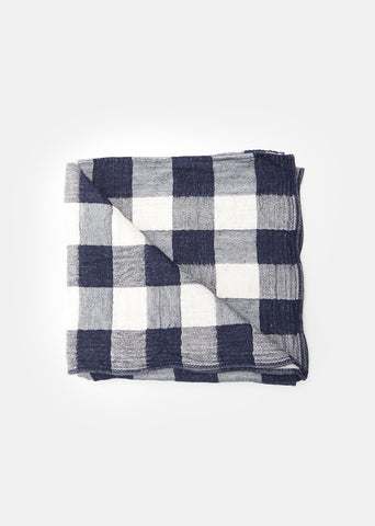 Large Vintage Check Bath Towel