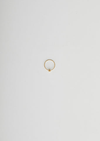 ONE STONE HOOP EARRING 01