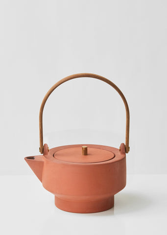 Edge Terracotta Teapot