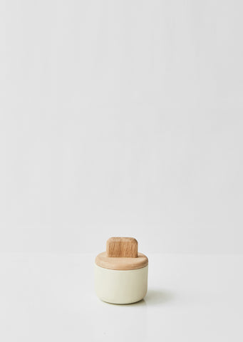 Oak and Ceramic Paddle Jar