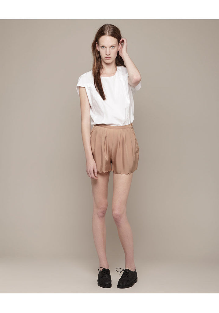 Pleated Scallop Short