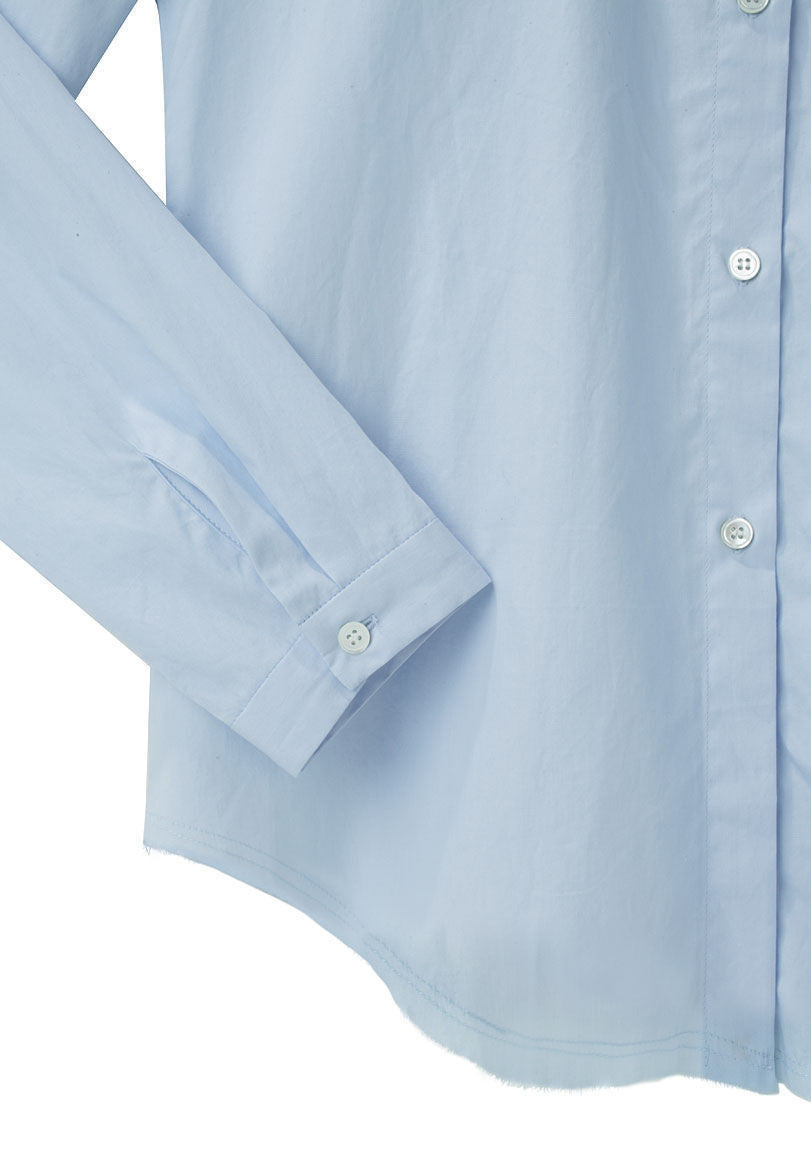 Raw Hem Oxford Shirt