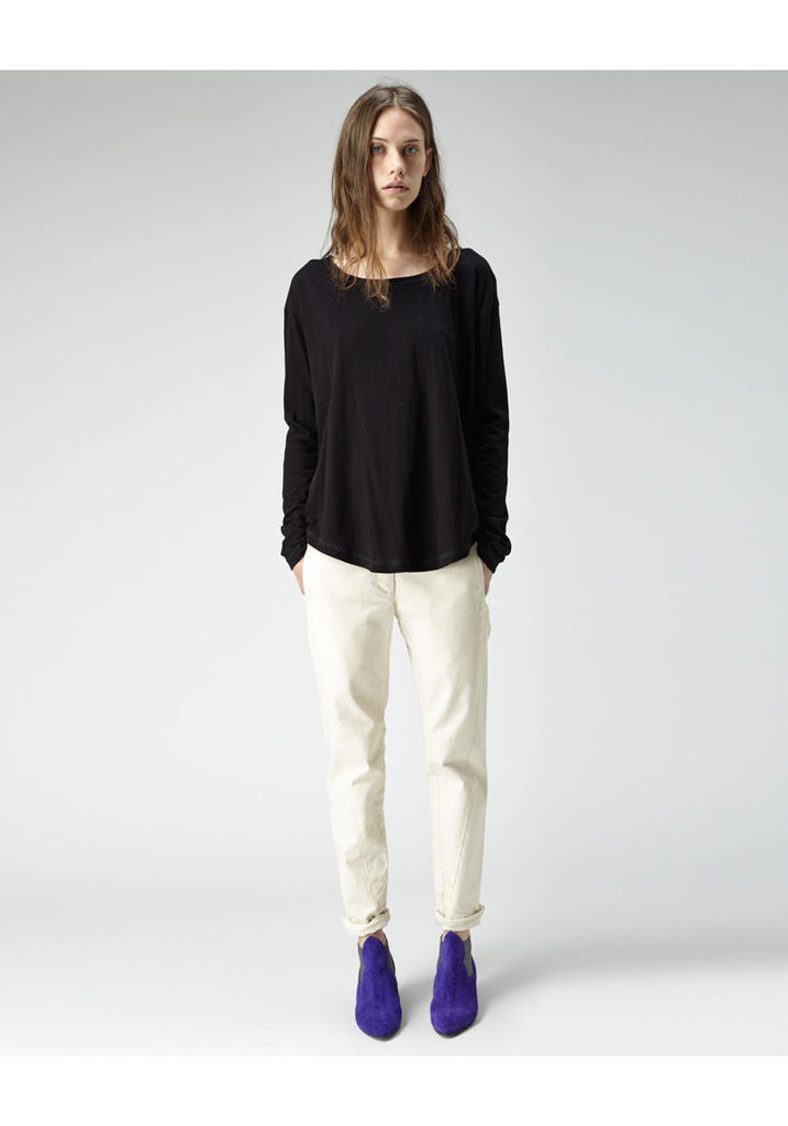 Slouch Long Sleeve Shirttail