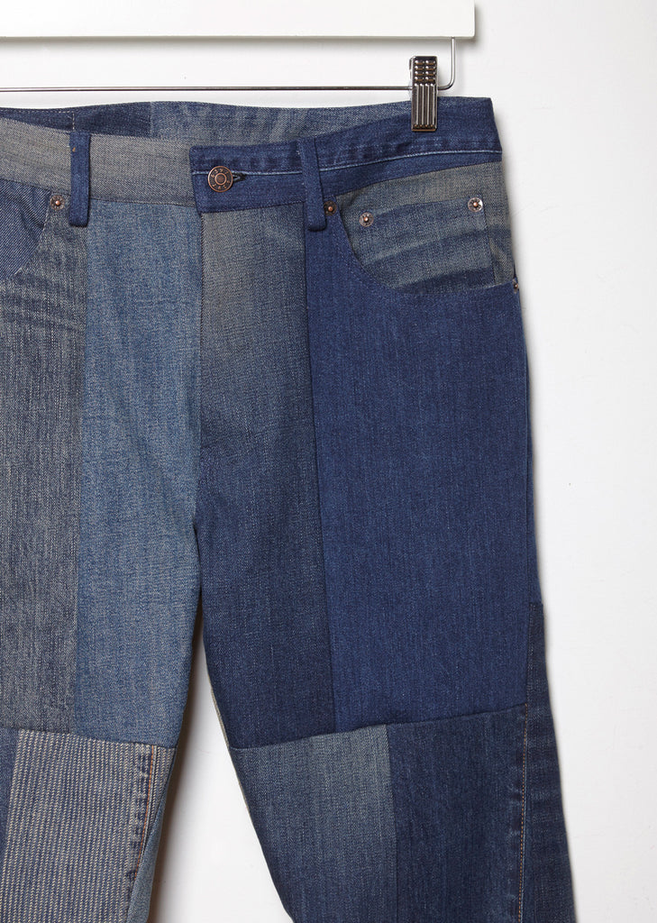 Patchwork Shorty Recycled Denim