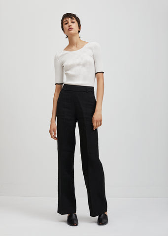 Marcelle Raw Zippered Trousers