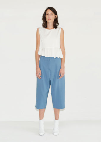 Back Pleat Cropped Trouser