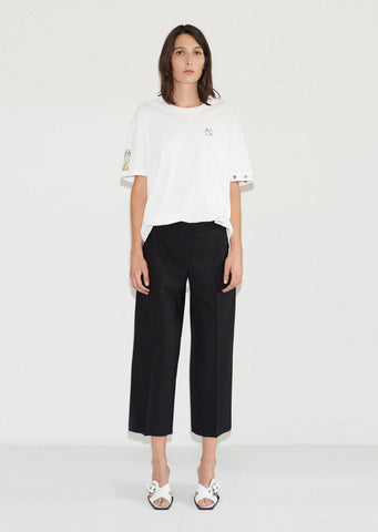 Wool Cropped Trouser