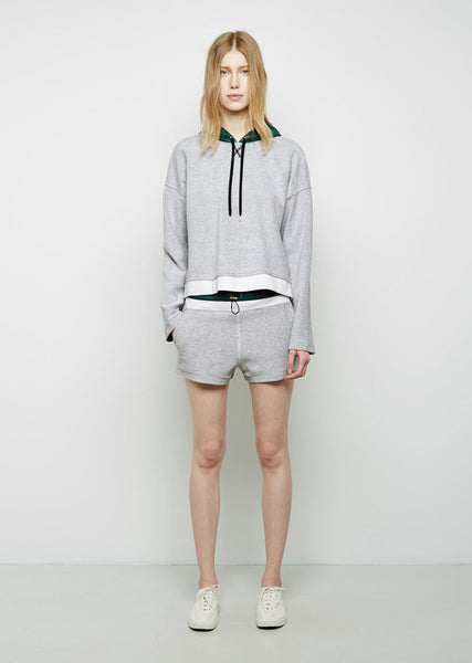 T by Alexander Wang Nylon Waist French Terry Sweatshorts La Garconne
