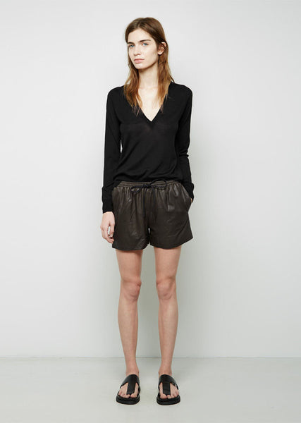 Alexander Wang Tailored Hybrid Leather Track Short La Garconne