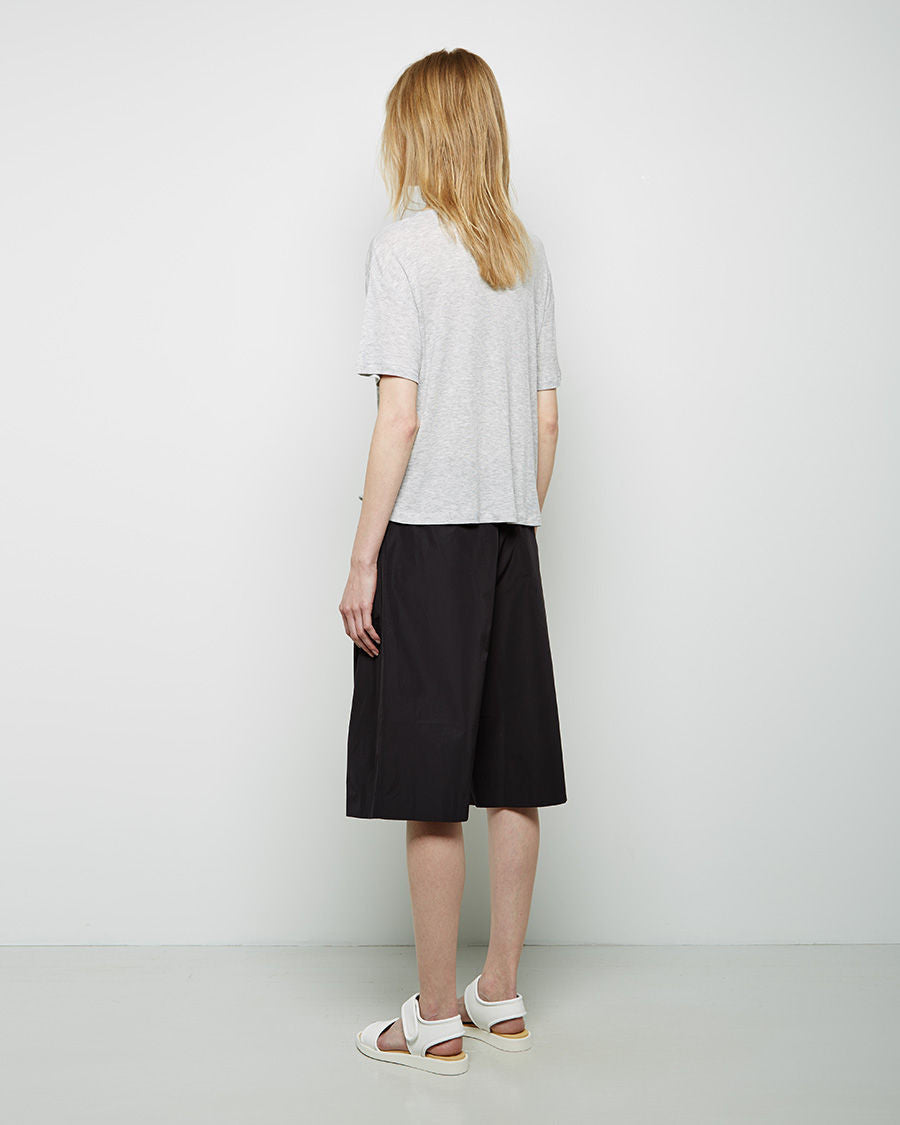 Tech Poplin Wide Leg Shorts