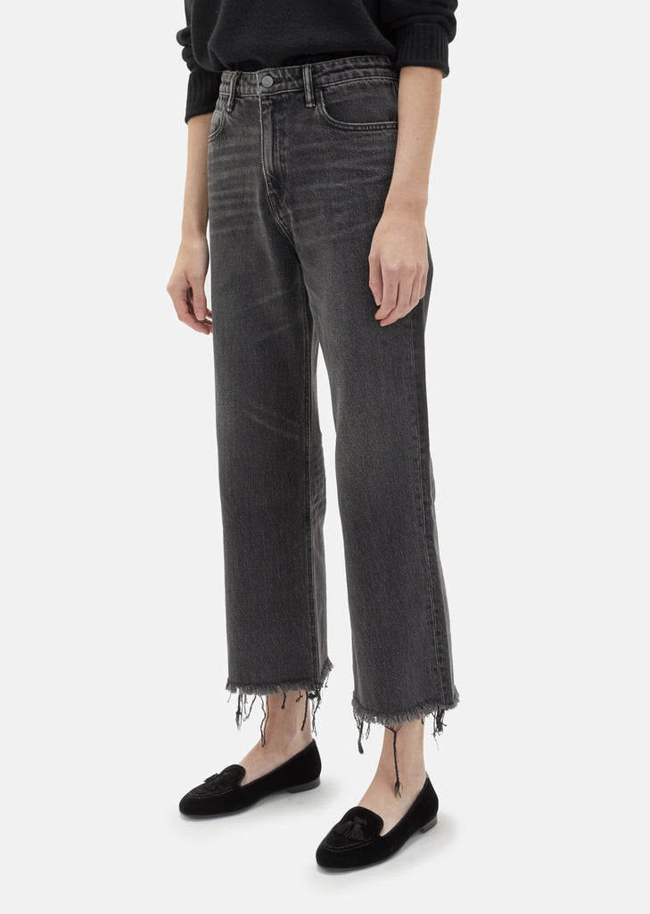 Cropped Loose Faded Jeans