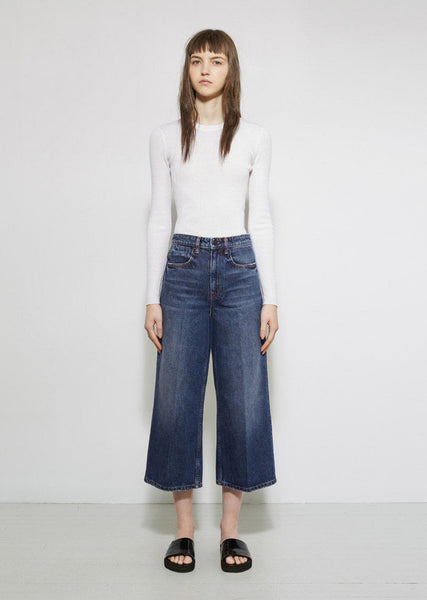 ALEXANDER WANG Drill High Rise Denim La Garconne