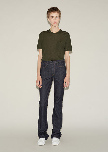 ALEXANDER WANG Idol High Rise Flare Denim La Garconne