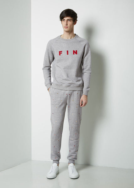 Embroidered Foulard Sweatpant