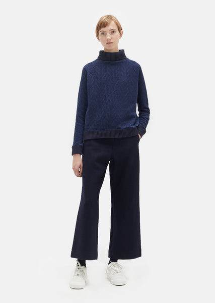Melton Wool High Waisted Pants