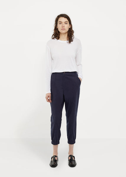 Pin Tucked Elastic Hem Pants