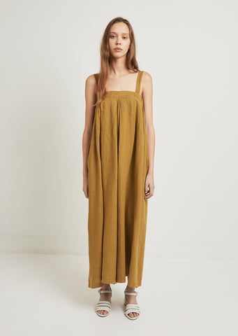 Wide Cut Pleated Jumper