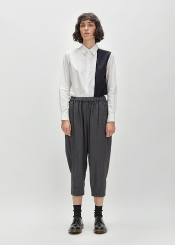 Wool Herringbone Drawstring Pant