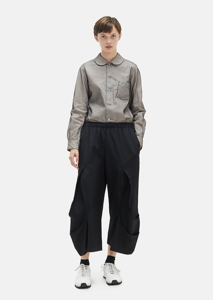 Wool Gabardine Drawstring Pants