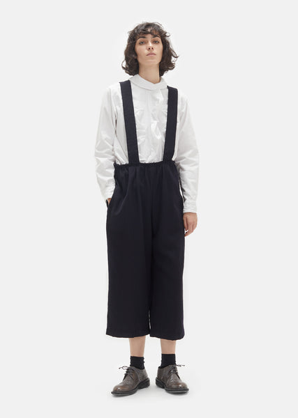 Wool Gabardine Suspender Trousers