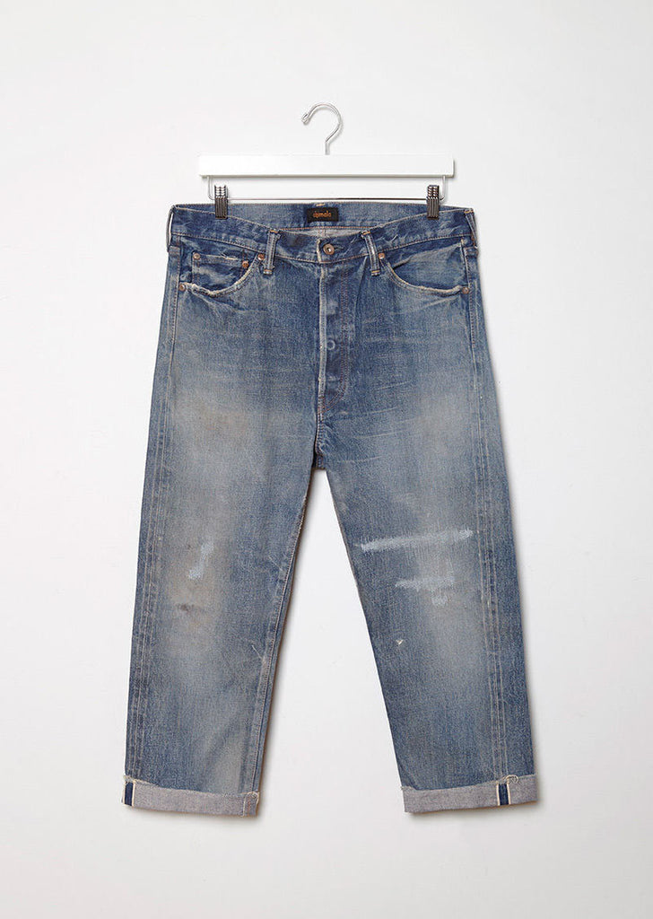 Wide Tapered Cut Selvedge Jeans
