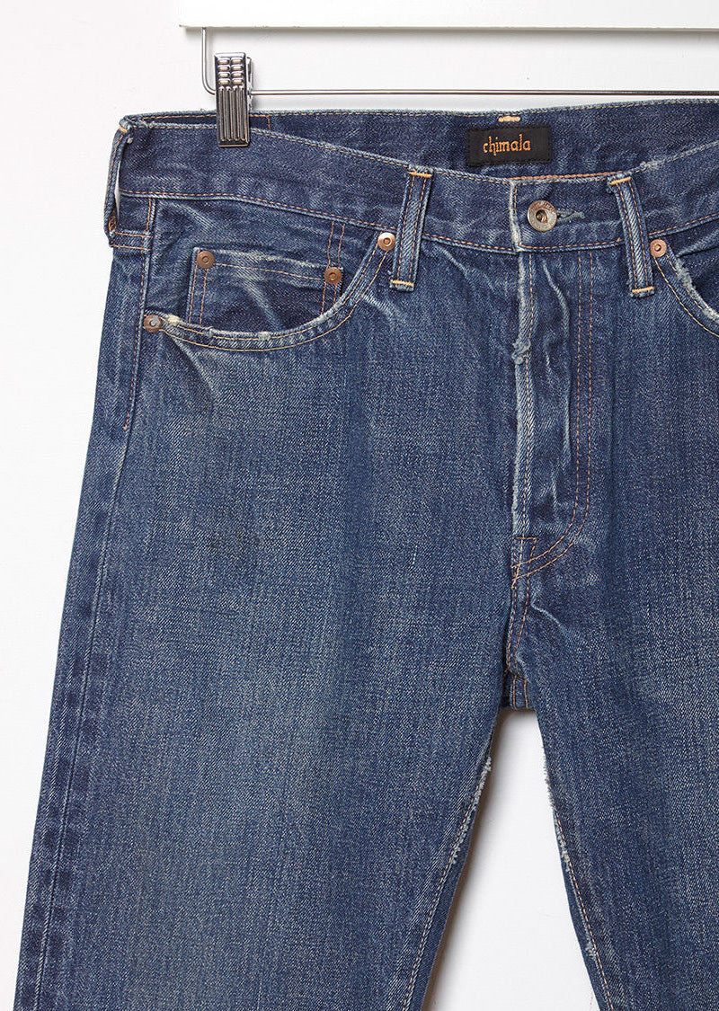 Narrow Tapered Cut Selvedge Jeans