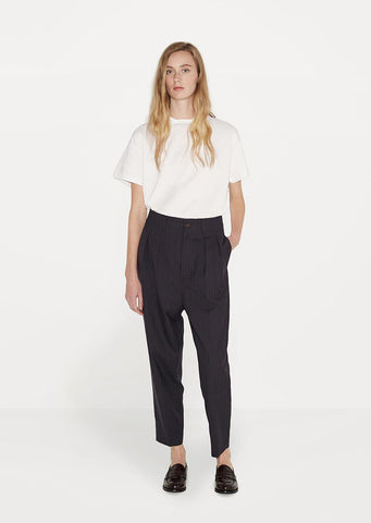 Cropped Pleated Pant