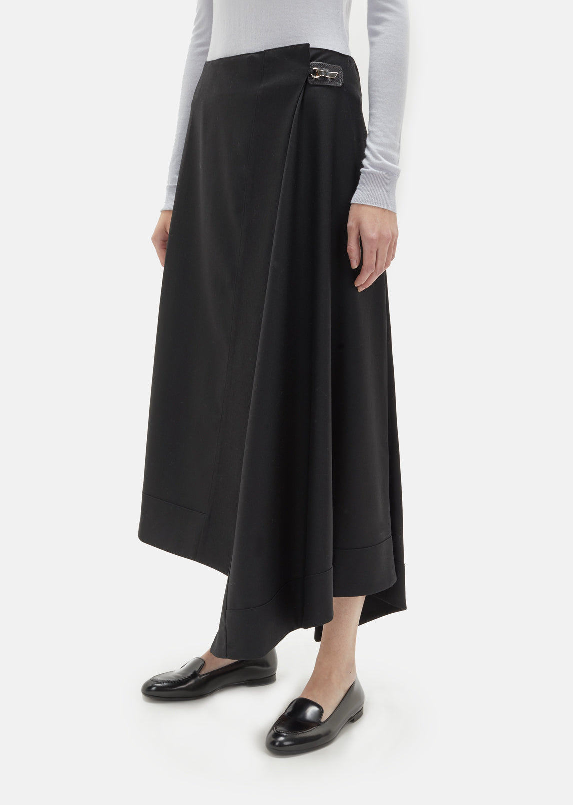 Wool Wrapover Skirt